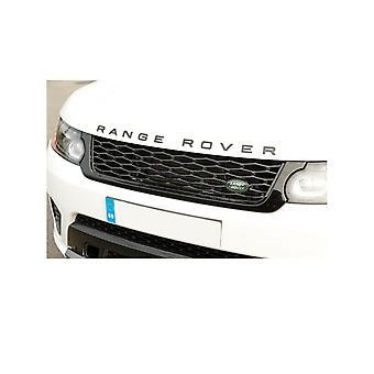 Gloss Carbon Fibre RANGE ROVER Front Grill Bonnet Badge Emblem Bonnet And Back Boot Lettering Badge (Pack of 2)