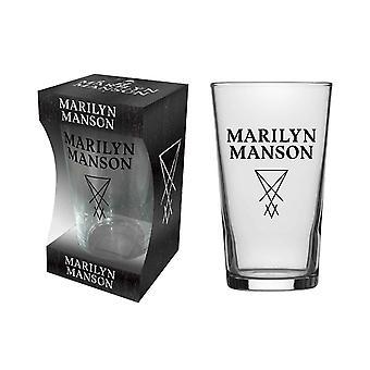 Marilyn Manson pint Glass tunnus logo uusi virallinen boxed