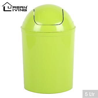 Anis plast 5 liter mini swing topp lokk avfall bin kontor hjemme bad