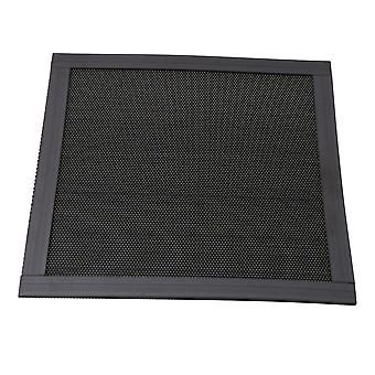 14x14cm Black Plastic Fan Dust-proof Magnetic-type Dense Mesh Filter