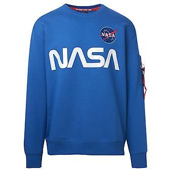 Alpha Industries 178309 539 Men's Blue Cotton Sweatshirt