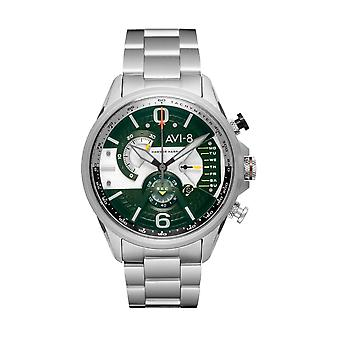 AVI-8 AV-4056-11 Hawker Harrier II Green Dial Armbanduhr