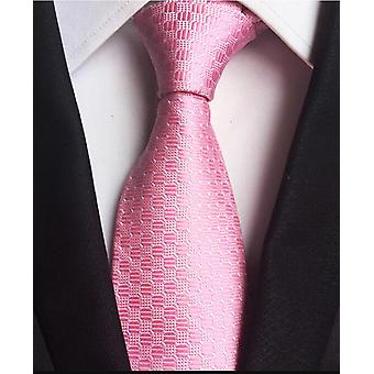 New Classic 100% Silk Men's Ties Neckties 8cm Plaid Striped Ties
