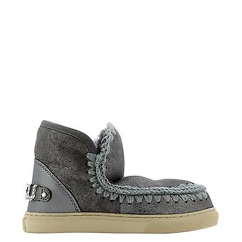 Mou Mufw111020bduiro Women's Silver Leather Ankle Boots