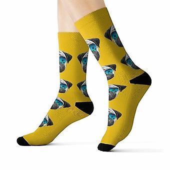 Pug Dans lunettes de soleil Fun Novelty Socks