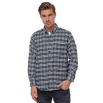 Men Plaid Flannel Shirt Button-Down Collar Vintage Lumberjack Casual Jersey