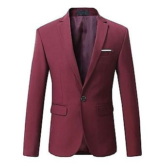 Men Blazer Dress Male Classical Casual Slim Fit High Quality Suit Jacket