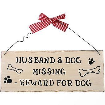 何か違う夫と壁掛け 5532-7042 行方不明の犬