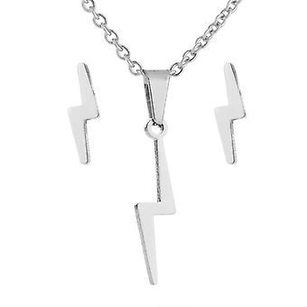 Conjunto de moda collar collar flash 14k oro chapado oro plata