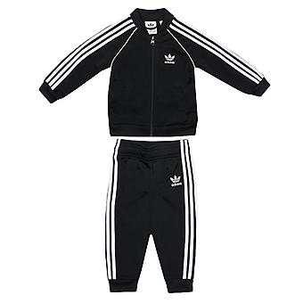 Boy's adidas Originals Baby Superstar Tracksuit in Black
