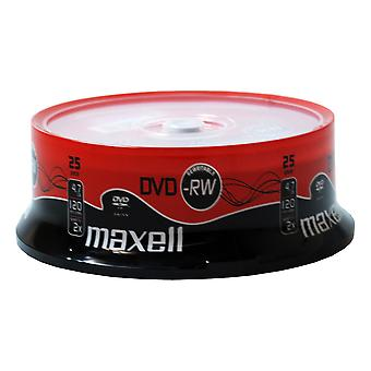 Dvd-rw 25 pack spindle 2x speed maxell