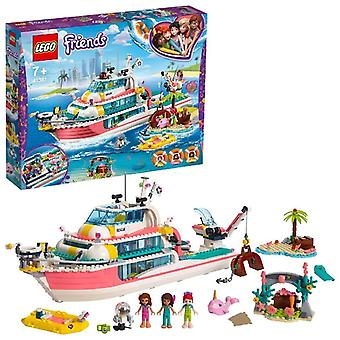 Lego 41381 friends rescue mission boat ja lego island toy for kids with olivia, andre