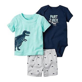 Letné baby tričko, krátke a romper set, Design 2