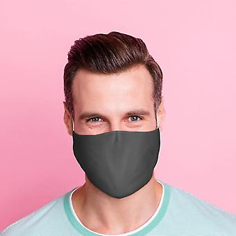 Cobertura facial reutilizável cinza - grande