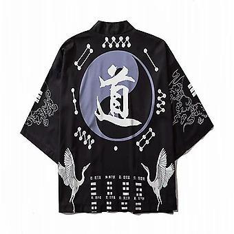 Japonesa Kimono Yukata Mujer Kimono Cardigan Moda Blusa Mujeres Streetwear