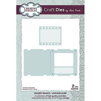 Creative Expressions Shabby Basics Collection Cutting Dies - Vintage Slide