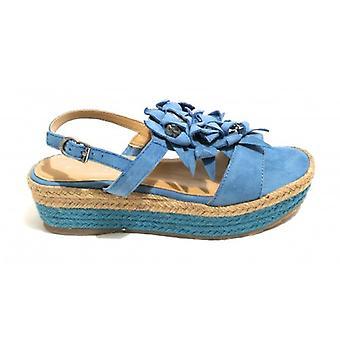 Ayakkabı Kadın Apepazza Sandalo Zeppa Mod. Bea Tc 45 Pl 35 Süet Avio/ Halat Ds18ap18