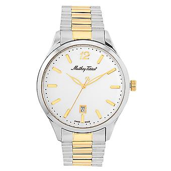 Mathey Tissot Men's Urban Metal White Dial Watch - H411MBI