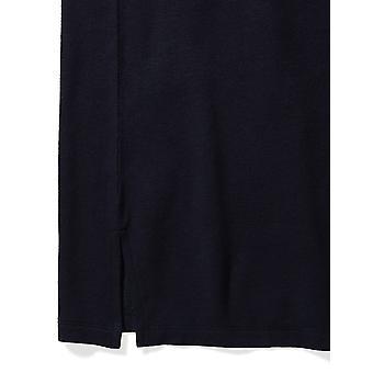 Brand - Daily Ritual Women's Supersoft Terry Long-Sleeve V-Neck Dress, Navy, Medium