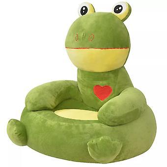 vidaXL أفخم كرسي الأطفال الضفدع الأخضر