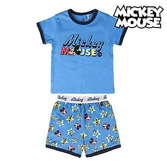 Children's pyjama mickey mouse dark blue collar