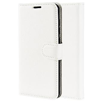 Magnetic Soft Leather Case for Doogee X70 - Blanc