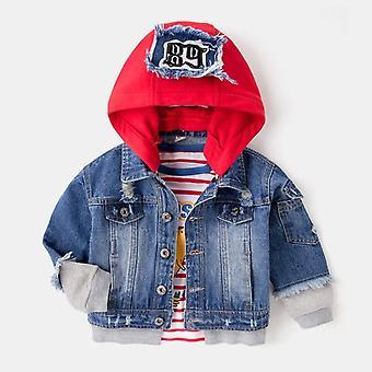 Benemaker Giacche in denim per l'autunno, abbigliamento 3-8y cappotti di jeans per bambini con cappuccio