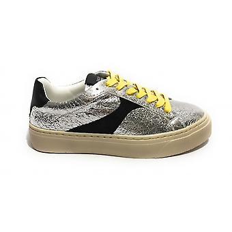 Женская обувь Кроссовки Золото и золото Ecopelle Crack Серебро / Черный Ds21gg12