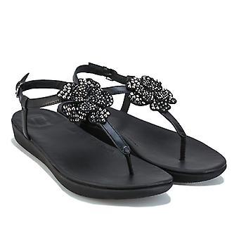 Feminino Fit Flop Tia Corsage Sandália sandálias em preto