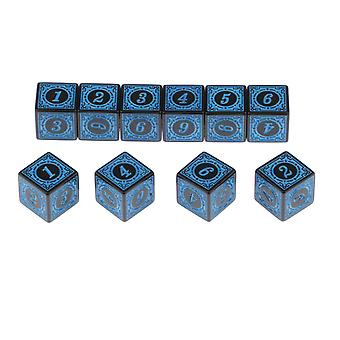 Multi Sided Acrylic D6 Dices For Table Board