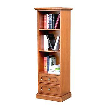 Narrow bookcase with 2 drawers