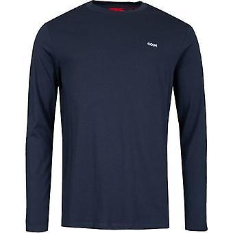 Hugo Derol pecho logotipo camiseta de manga larga