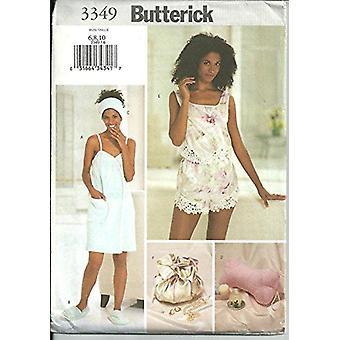Butterick ompelu kuvio 3349 Misses Pyyhekääre tossut Tyyny Camisole Koko 6-10 Leikkaamaton
