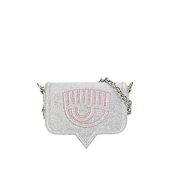 Chiara Ferragni Eyelike Silver Small Crossbody Bag
