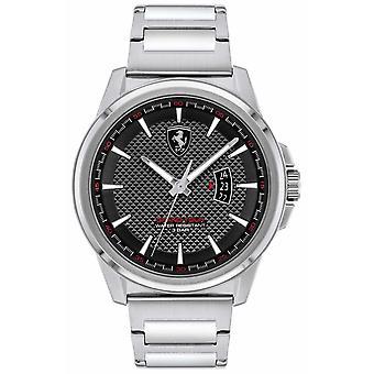 Scuderia Ferrari Men's Grand Tour | Stainless Steel Bracelet | Black Dial 0830834 Watch