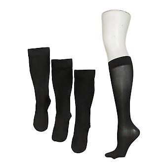 Legacy Women's Graduated Compression Sock Set of 4 Black A388345