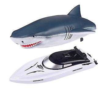 2.4g Simulation Shark Speedboat Rc Boat Two-way Navigation Water Toy