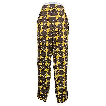Anybody Women's (XXL) Brushed Jersey Printed Pajama Pants Yellow A392379