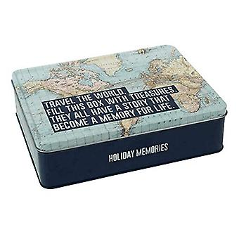 Explorez Collection Storage Tin Travel the World