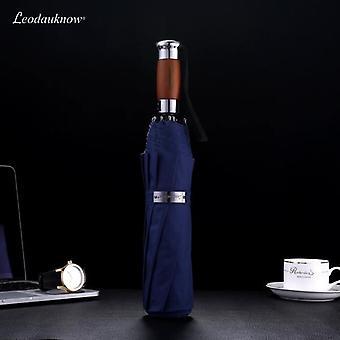 Äkta märke Stort fällbart paraply (blå)