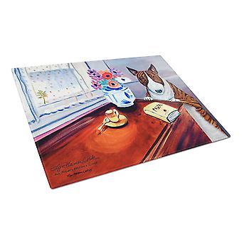 Caroline's Treasures 7249LCB Bull Terrier Glass Cutting Board, Grande, Multicolor