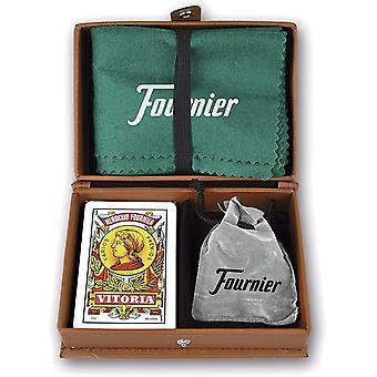FengChun F31023 - Mus im Etui aus Kunstleder, Spielset, Braun