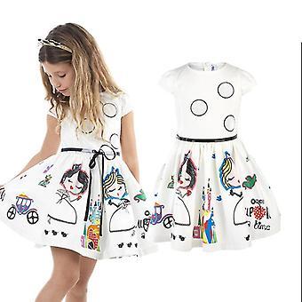 Princess Character File With Robe Sashes Kids Dress
