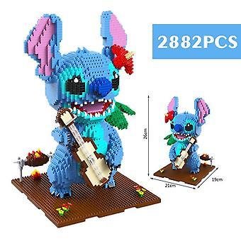 Neue Disney praktische Fähigkeiten Modell Bausteine Ziegel Gehirn Spiel Geschenk Kind Geburtstag| Blöcke(Blau)