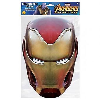 Máscara de fiesta de los Vengadores de Iron Man
