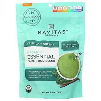 Navitas Naturals الأساسية سوبرفوود مزيج، فانيلا والأخضر 8.4 أوقية