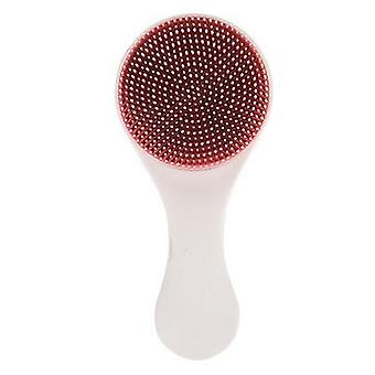 Baby Shampoo Silicone Brush With Comb Soft And Safe Massage Bath Brush(Red)