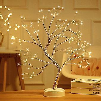LED Baum Lichter Warmweiß USB Bonsai Baum Licht Verstellbare Äste Batteriebetrieben Dekobaum