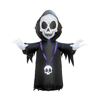 Halloween balloon garden decoration 1.2 m skull ghost ghost inflatable model with led