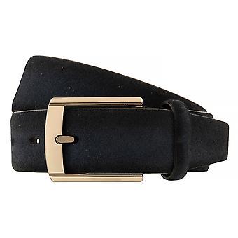 Ceintures de Bugatti ceintures hommes en cuir suédé de ceinture bleu marine/bleu 5224
